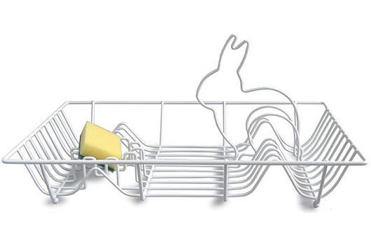 Abtropfgestell mit Häschendeko von fab.com